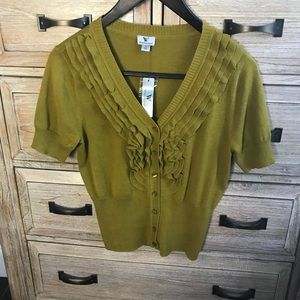 Worthington Olive green short sleeved cardigan